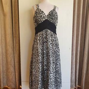 Liz Jordan Black/White Animal Print Dress Size 12